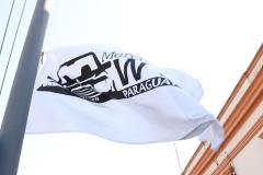 Bandera del Club flameando en Villa Hayes